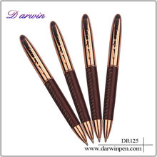 Office supply leather metal syringe pen with customized logo printing