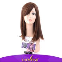 Fashionable long hair wigs for white ladies/synthetic hair wigs for sale
