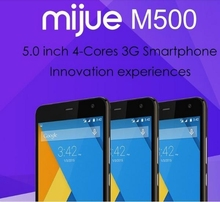 "Original Mijue M500 Mobile Phone MTK6582 Quad Core Android 4.4 5"" IPS Support Dual SIM GPS Wifi Bluetooth"