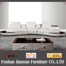 K001 white leather sofa corner