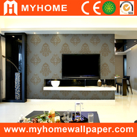 MyHome china supplier wallpaper brand wallpaper high quality PVC washable