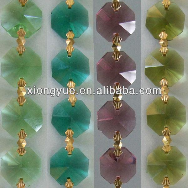 Decorativo cristal cadenas para la navidad y decoración de eventos