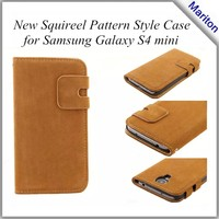 Smart Head Cover Leather Case with Card Slots and Holder For Samsung Galaxy S4 Mini