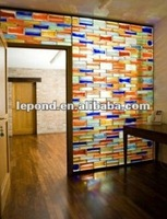 mosaic Colored and Clear Glass Blocks decorative glass brick