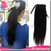 alibaba website human hair clip on ponytail yaki straight human hair ponytail extensions