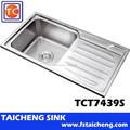 Tct7439s de la cocina venta al por mayor de Shunde fregadero fabricante TaiCheng