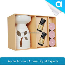 Most popular and beautiful ceramic oil burner reed diffuser sets / tea-light gift set/fragrance oil for air freshener dispenser/