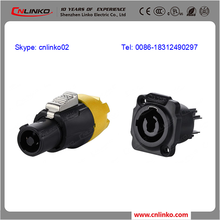 cnlinko prototype samples electrical wire screw locking type connector ac power socket plug connector