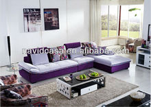 8106A 3 seater corner fabric sofa with chaise lounge