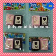 2014 LOVELY CHOCOLATE HEART ERASER FOR VALENTINE GIFT