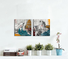 Multi-panel Vintage Famous Woman Printing Painting on Canvas Art