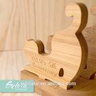 2015 new design mãe idéias do presente do dia de madeira dobrável suporte do telefone móvel