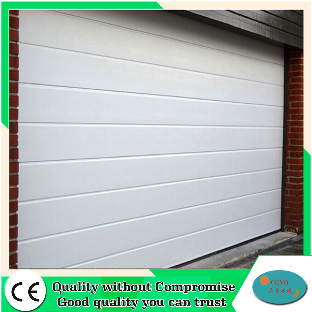 Overhead finger protection sectional garage door with