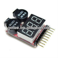 HOT! Lipo Battery Low Voltage Tester 1S-8S Buzzer Alarm