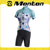 China largest manufacturer 2015 women short sleeve cycling jersey/bike pants-blue heat-transfer with competitive price