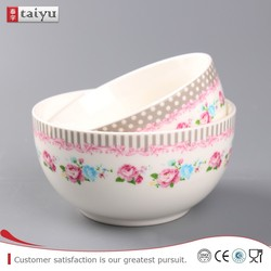 customized long service life animal ceramic dog bowl