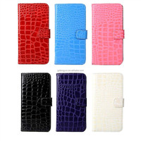 Luxury crocodile Leather Flip Case For Apple iPhone 6s 4.7inch Phone Cover Cases With Stand Function