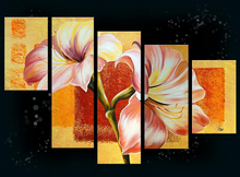 Modern Abstract Flower Decorative Oil Painting On Canvas With Vivid Color For art gallery