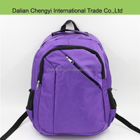 High quality fuctional purple big travel backpack with many pocket