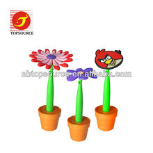 2013 Flower shape Silicone ball pen for promotion