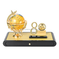 Luxury gloden globe 80th year gifts decorative office stationery