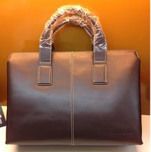 Wholesale fashion genuine leather laptop bag