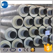 Construction materials api5l 8inch carbon steel pipe with pur foam filled and outer casing for Denmark water pipeline system