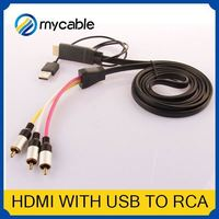 HDMI to 5 RCA RGB Component Cable 3 rca to coaxial adapter HDTV Cord Audio AV Video Converter