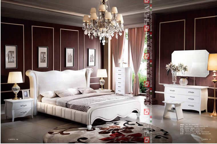 Reine lit taille lit king size lit en bois moderne b9025 lit en bois id de produit - Taille lit king size france ...