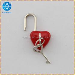 Love Heart shaped padlock with key