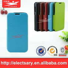 Leather cellphone case/window view flip for S3 MINI I8190
