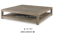 Australian popular style antique reproduction oak wood square coffee shop tea table