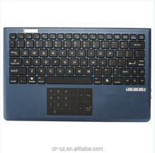 Slim,Ergonomics metal touchpad bluetooth keyboard with piano lacquer,Bluetooth Interface