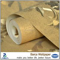 Barca 2006 series cheap grade 3 glitter fabric wallpaper in uae