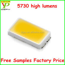 Free samples compare high lumen 5730 led double brighter than 5050 led (CE&RoHS)