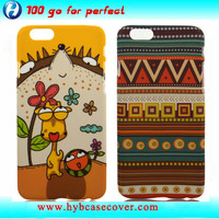 New water transfer printing plastic mobile phone case for i phone 6