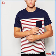 China Popular Manufacturer Cotton Jersey Wholesale Striped Printing T-Shirt For Men