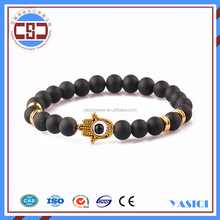 handmade jewelry set hot sale natural stone bead elastic bracelet for men