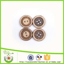 Ancho único lamer y centro blanco semilla natural botón de una sola pieza de puente