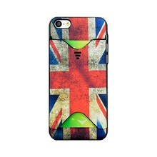 card holder back printing ENGLAND Flap Logo Mobile phone case for iPhone 5c