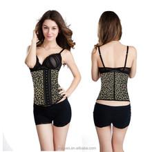 sexy lingerie leopard 5 piece/set top, waist training corsets wholesale