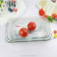 1.5L 2.0L 3.5L Rectangular personalized Tempered Glass Bakeware