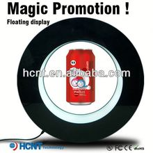 Most Attractive ! Magnetic Floating display stand for plastic bottle ,aluminium drinking bottle