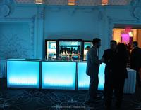 Modern elegant acrylic bar counter,solid surface cafe plexiglass bar lighted furniture acrylic bar counter