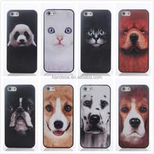 Cute Panda Cat Dog Unique Logo Phone Case 3D Animal Picture Mobile Cover Cases For Iphone5 5S Case