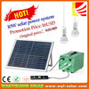 Mini solar light kits 3W LED light bulb 10W solar panel mini portable solar power system with and mobile power bank charger