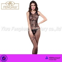 360 degrees non-trace hollow-out lace bodystockings