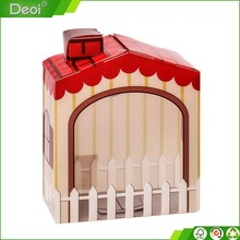 kids gift heart money Polypropylene saving case & unfinished small PP/PVC plastic saving box for children