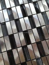 mosaics silver and black glass mix aluminum mosaic wall tiles decorative arts