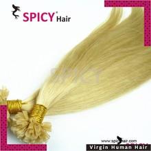 2015 new product 100% brazilian 613 color virgn human hair extension u tip brazilian straight hair extension
